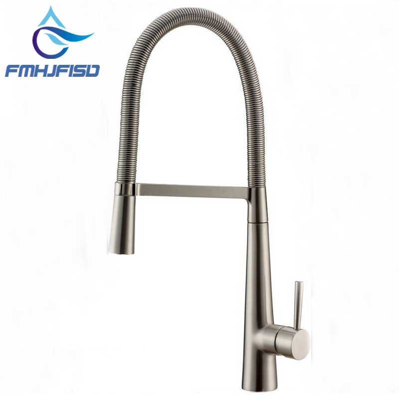US $66.0 40% OFF|Factory direct sale! Luxury Brushed Nickel Kitchen Faucet  Single Handle Hole Vessel Bar Sink Faucet Deck Mounted-in Kitchen Faucets  ...