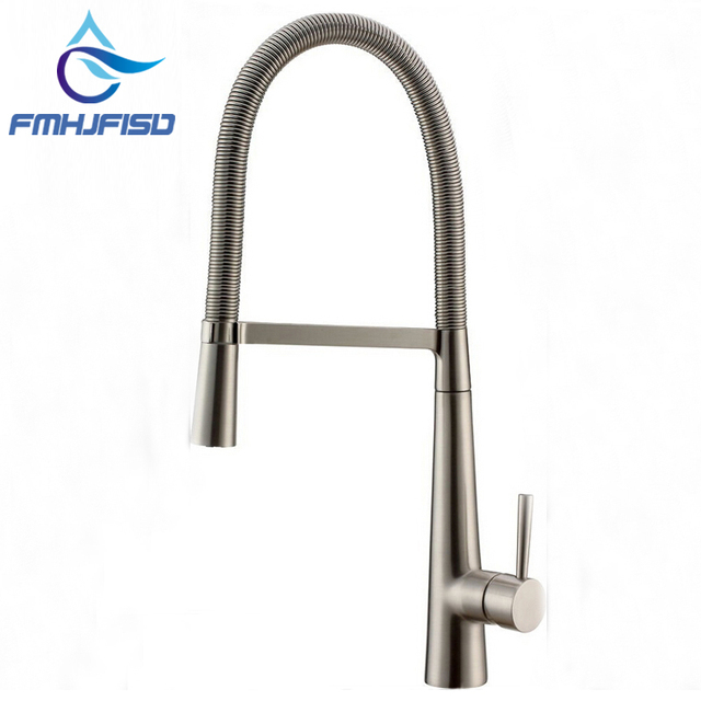 Factory Direct Sale Luxury Brushed Nickel Kitchen Faucet Single