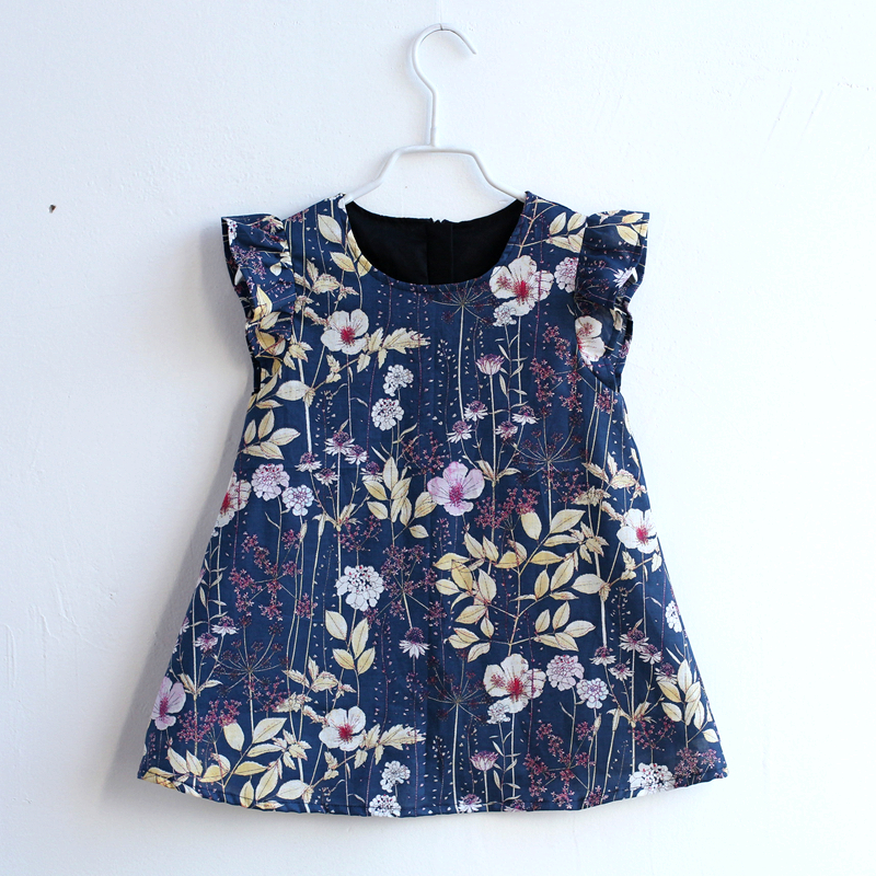 Summer children cotton holiday beach loose print dress family matching outfits mommy and kids girl mother daughter Aline dresses все цены