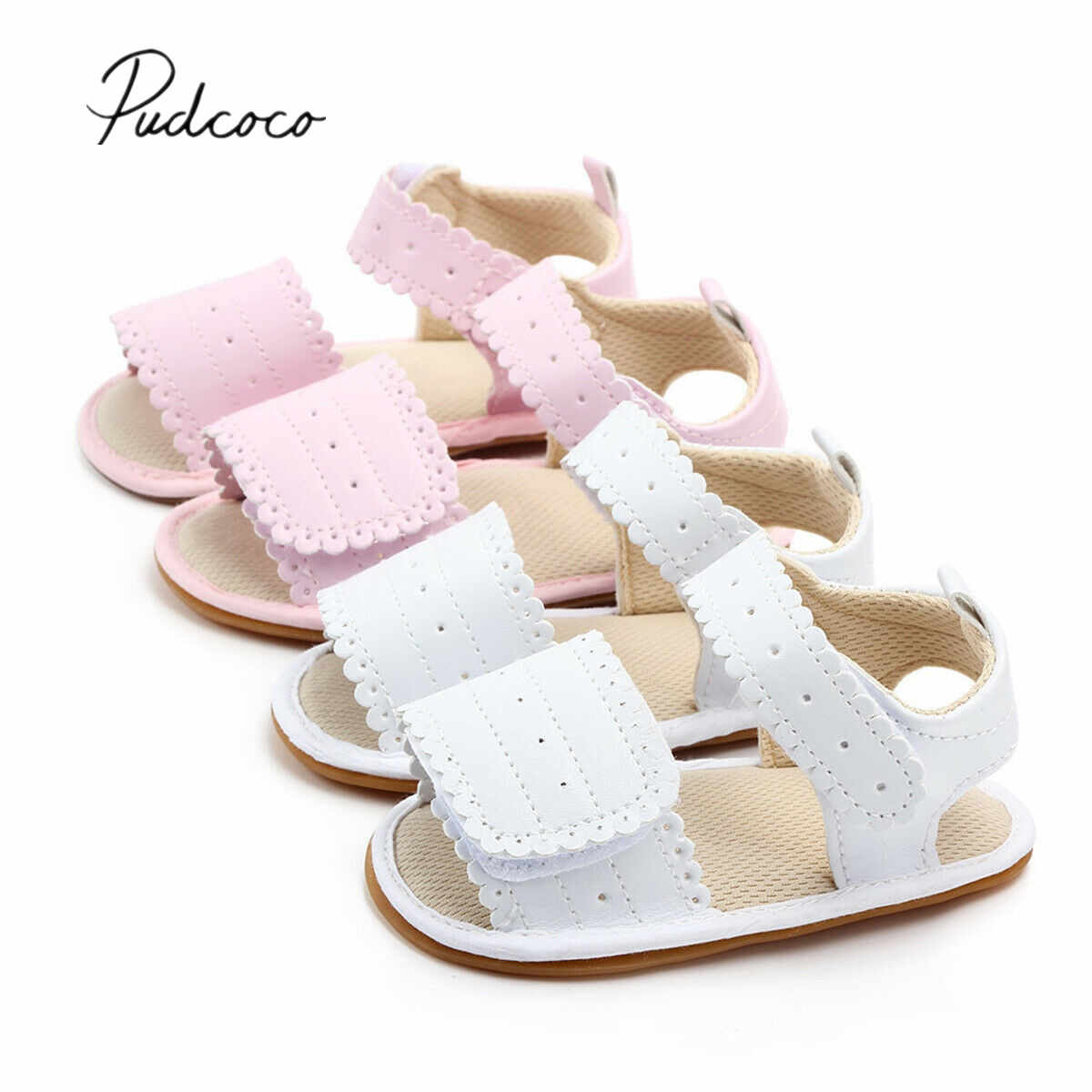 2019 Baby Sandals Clogs Infant Newborn Baby Girls Soft Sole Sandals Toddlers Summer Sandal Hollow Out Solid Crib Shoes 0-12M