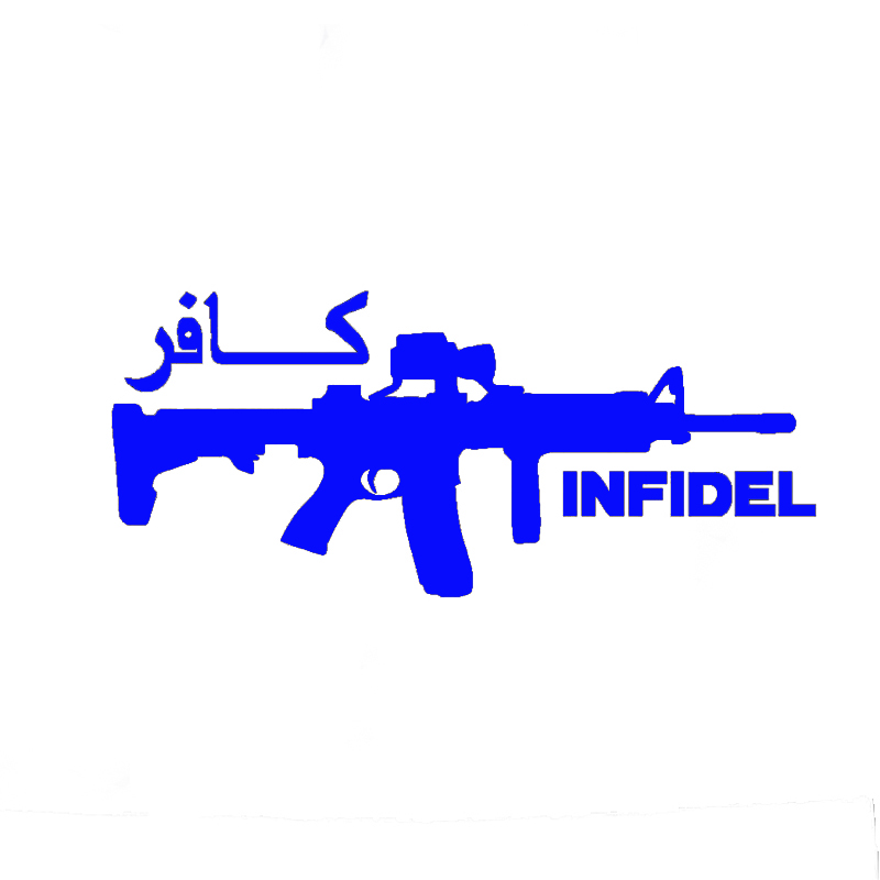 0af33c48168 Wholesale 10pcs lot 20pcs lot Infidel Ar 15 Army Gun Decal Jdm Funny Vinyl  Car Window Bumper Sticker-in Car Stickers from Automobiles   Motorcycles on  ...