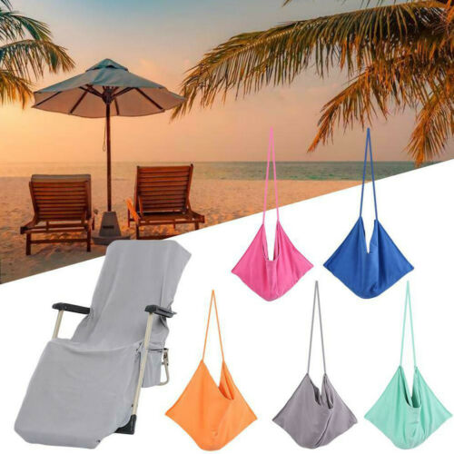 5Colors Beach Lounge Chair Cover Towel Bag Sun Lounger Mate Holiday Garden Buddy Send In Random Color