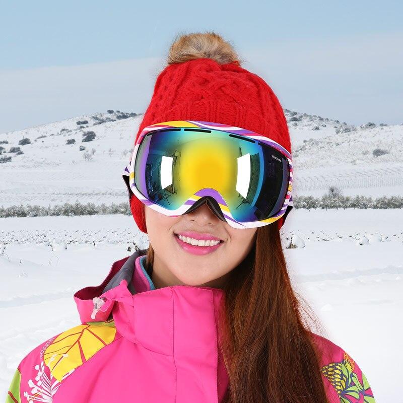 Промышленности лыжные очки большой сферической двойной анти-туман лыж Очки альпинисты могут набор близорукость ветрозащитный