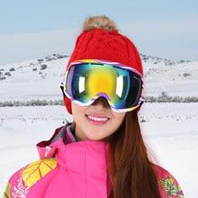 Industry ski goggles large spherical double anti-fog ski glasses climbers can set myopia windproof