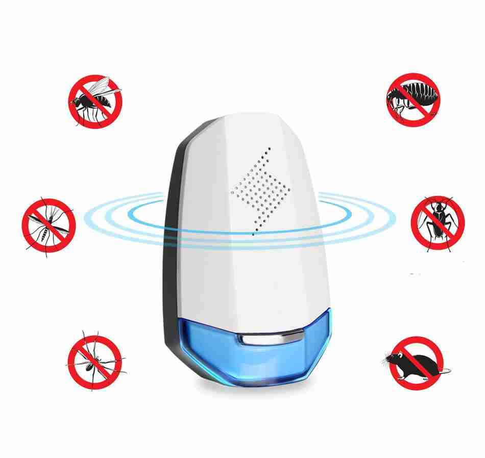 Bakeey HP-201 Indoor EU US UK Plug Electronic Pest Control in LED Ultrasonic Anti Mosquito Animal Repeller for Baby Care ao 149 portable plastic ultrasonic wave mosquito repeller black