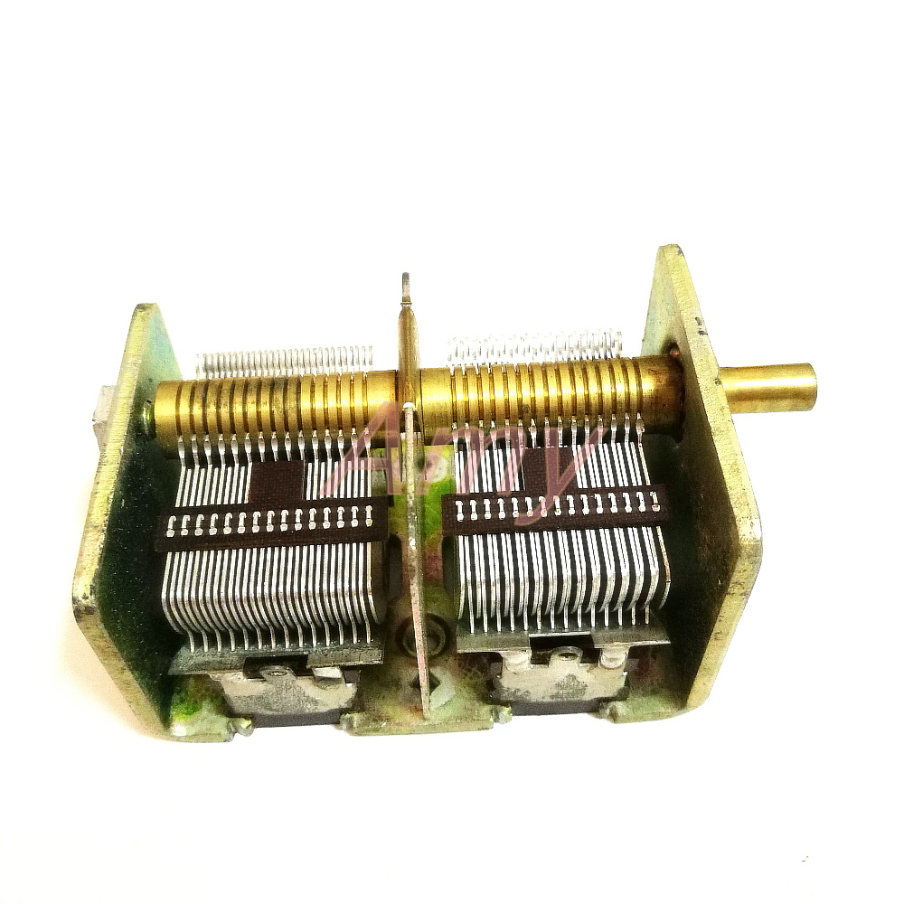 New people made 246 type 2*460PF radio dual variable capacitor-in Capacitors from Electronic Components & Supplies