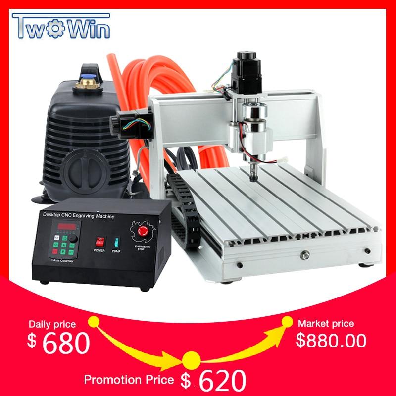 300 W 3040 T Mini machine cnc 3 Axe Pcb fraiseuse routeur de bois CNC Routeur avec MACH3 Contrôle espace de travail 390x280 x 55mm
