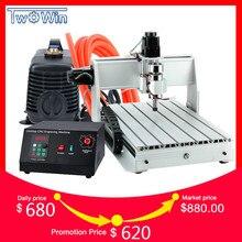 300 W 3040 T Mini máquina de CNC de 3 ejes Pcb máquina fresadora Router cnc Router de madera con MACH3 Control de trabajo área de 390x280x55mm