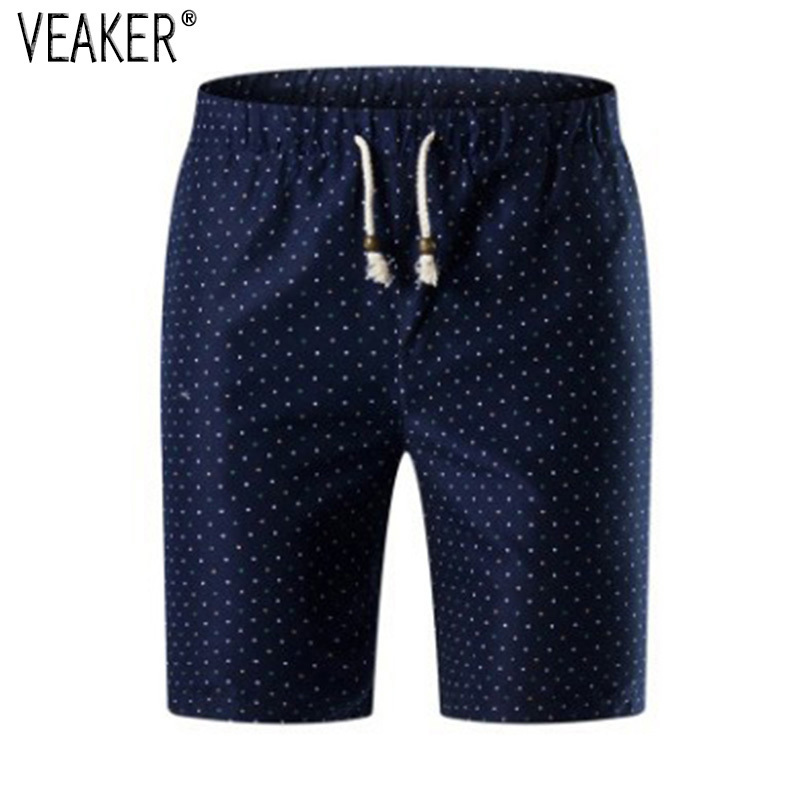 Male Short Trousers Printed Plus-Size Dot 5XL Casual Men's