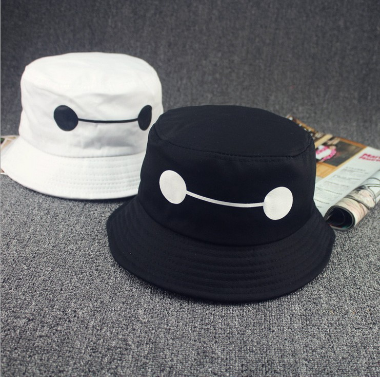 48a2fd1e57d 2015 New baymax Leisure Bucket hat  sun hat
