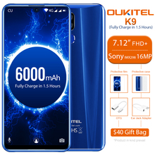 OUKITEL K9 Celular-Phones 64GB GSM/LTE/WCDMA 5g wi-Fi Octa Core Face Recognition 16MP
