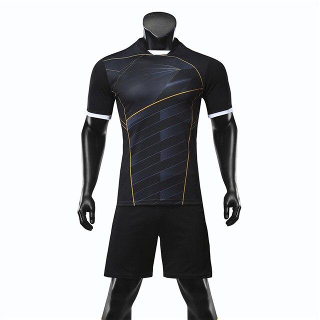 Nuevos hombres Jersey De fútbol establece adultos entrenamiento De Futbol  uniformes Set Survetement Kits De fútbol 35375aae38d28