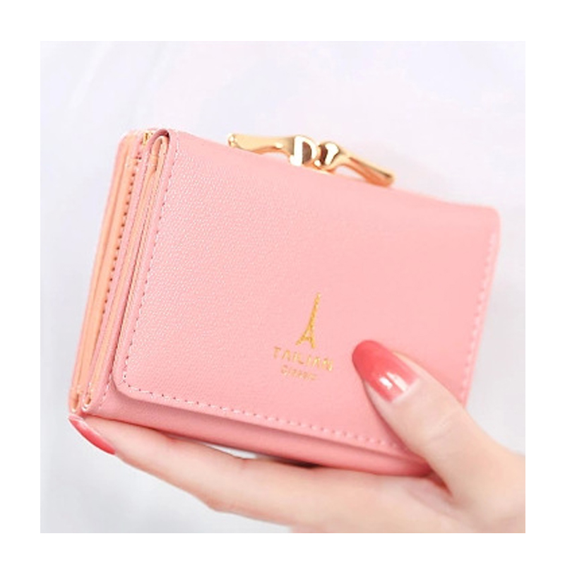 Women Purse Ladies Leather Wallet Female Coin Purse Handy Cute High Quality Small Wallet Card Holder Buckles Money Bag Pocket dollar price women cute cat small wallet zipper wallet brand designed pu leather women coin purse female wallet card holder