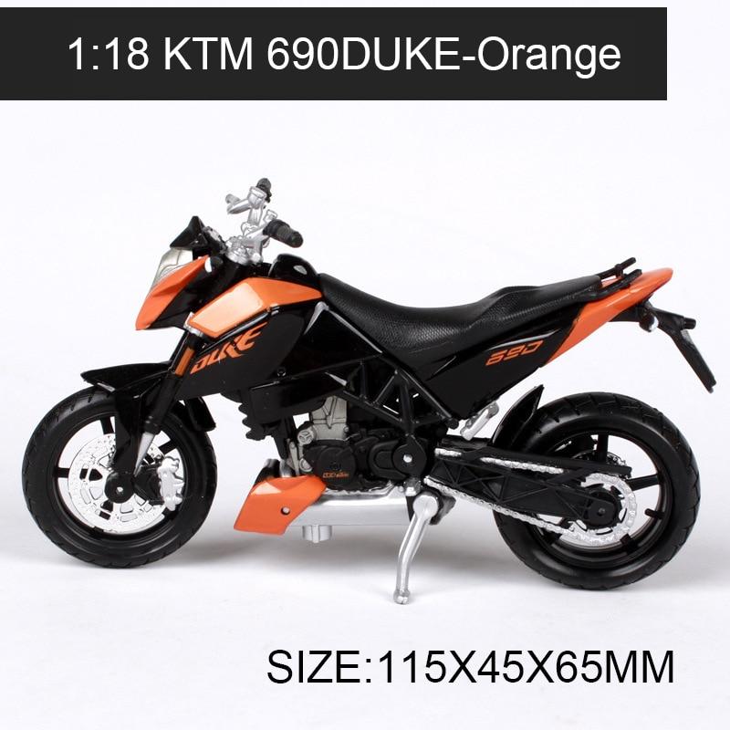 1:18 Motorkerékpár modellek KTM 690 DUKE 450EXC verseny modell - Modellautók és játékautók