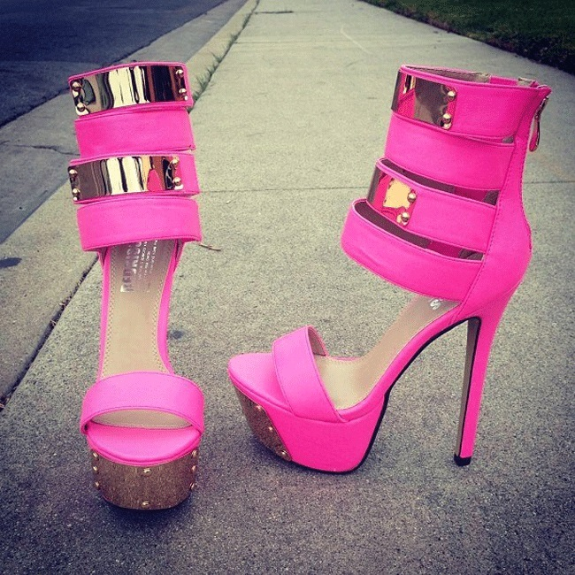 ФОТО The new 2016 measures with high help cool high-heeled boots fine with female sandals - 43 size 41 yards