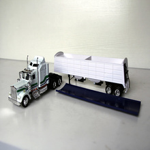 1/43 Simulation Classic Toy Truck United States KENWORTH W900 Container Transporter Alloy Die-casting Collection Toy Model