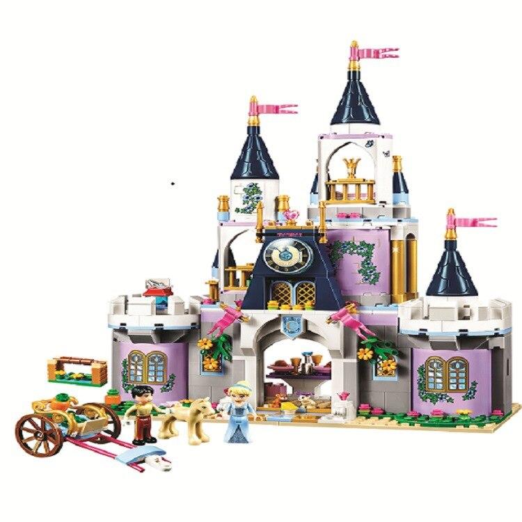 Bela 10892 Girls Friend Series Cinderella's Dream Castle Set Building Blocks Bricks Educational Funny Toys Compatible with 41154 контейнер для линз funny friend