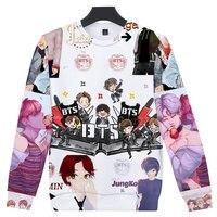 3D Print BTS Love Yourself Bangtan Boys Sweatshirt K Pop Autumn Winter Unisex Capless Hoodies Women