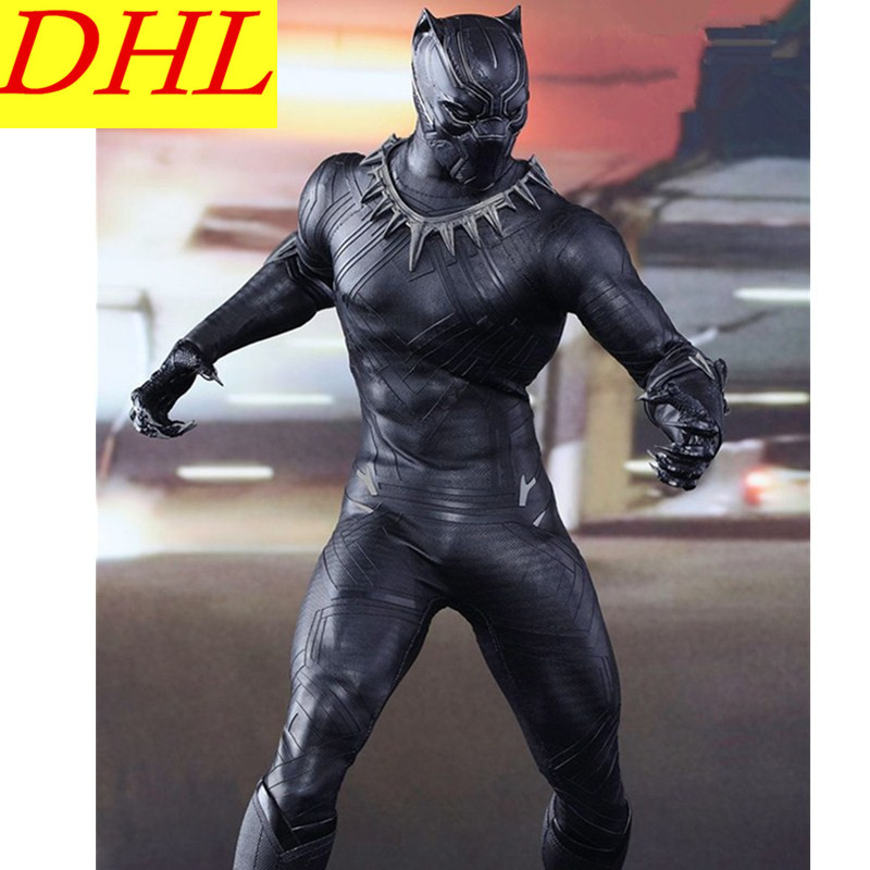 Avengers 3 Black Panther 1/6 Paragraph Cloth 12 Inch Friends Iron Man PVC Action Figure Collectible Model Toy L2084 avengers 3 movie iron man tony stark 1 6 mk7 superhero pvc action figure collectible model toy l2228