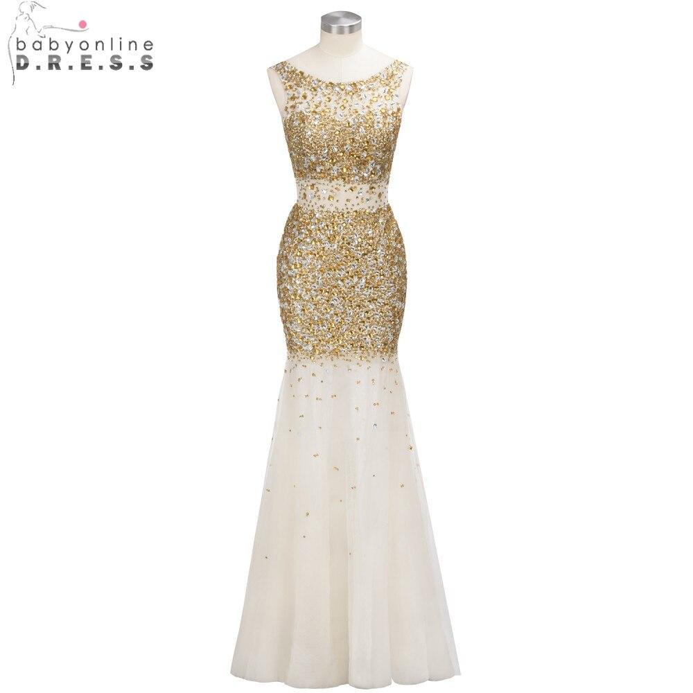 Custom Made Heavy Beaded Mermaid Evening Dresses 2019 Sexy Backless Crystal Formal Evening Party Gowns vestido de noiva
