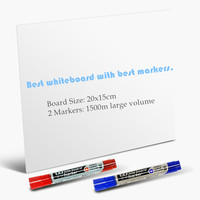 Dry erase flexible magnetic whiteboard message board memo pad dialog box magnet magnetic whiteboard.jpg 200x200