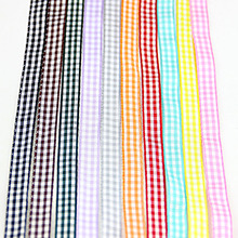 NEW~10 yds (1 yard 1 color)3/8″ 10 mm Grosgrain Ribbon Plaid Tartan Double-face trim MIX COLOR