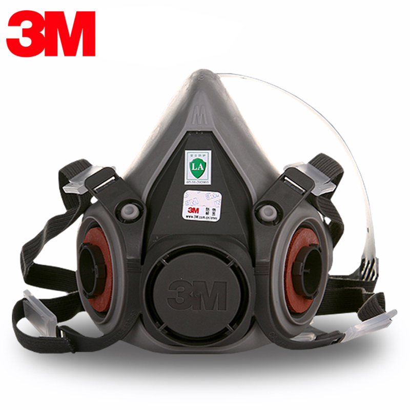 3M 6200 Gas Mask 6000 Series Half Facepiece Reusable Respirator Half Face Gas Mask Respirator 11 in 1 suit 3m 6200 half face mask with 2091 industry paint spray work respirator mask anti dust respirator fliters
