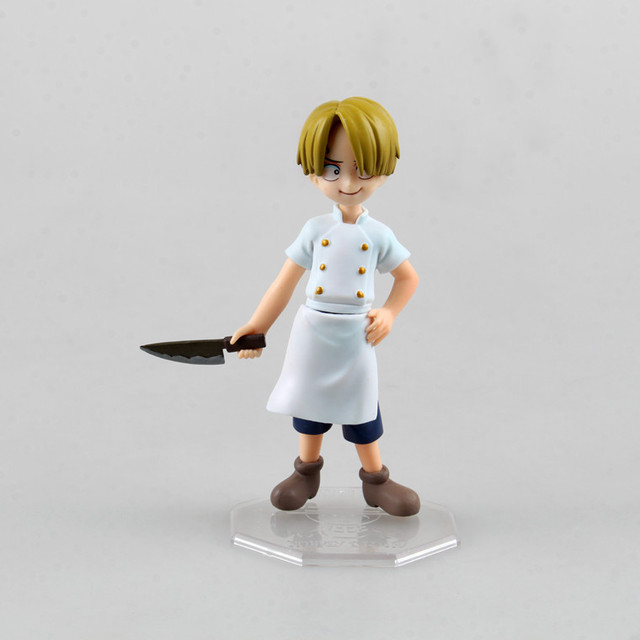 One Piece Young Sanji Mini Version 12cm Model Collectible Anime Action Figure Toys