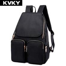 Kvky новая мода женщины рюкзак высокое качество нейлон водонепроницаемый рюкзак школьные сумки для девочек-подростков back pack сумка mochila