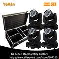 (4 Pack en vuelo) B60 Led cabeza móvil haz de luz 60 W lámpara Led DMX 11 canales etapa DJ luz de iluminación