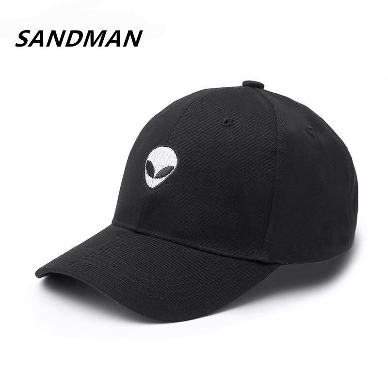 New Fashion Aliens Snapback   Cap   Outstar Saucer Space E.T UFO Fans Black Fabric   Baseball     Cap   Hip Hop Hat Dad Hat for Men Women