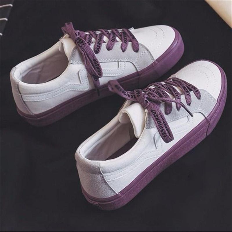 2019 Women Sneaker Fashion Breathble Vulcanized Shoes Platform Lace Up Casual White Shoes Tenis Feminino Zapatillas Mujer