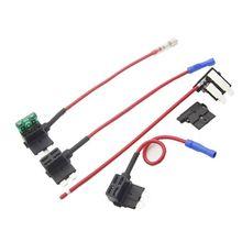купить 32V MINI/SMALL/MEDIUM Car Blade Fuse Holder Add-a-circuit Electric Appliance Piggy Back Fuses Tap, Two Types Clip Optional дешево