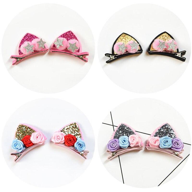 Barrettes  Rainbow Flowers Hairpins  Cute Hair Clips  Kids Hair Accessories