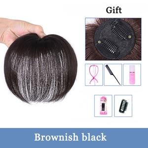 Image 5 - Peluca de seda de proteína sintética recta con cierre superior hecha a mano de color negro Natural