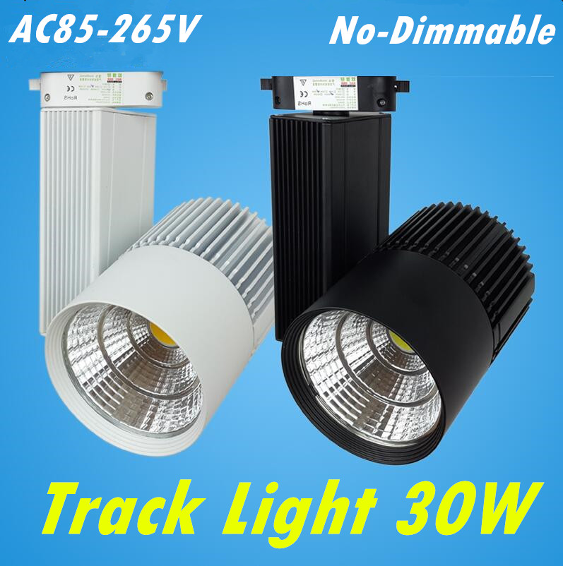 LED Track Light 30W COB Rail Light Spotlight Lamp Replace 300W Halogen Lamp 110v 120v 220v 230v 240v Spot Lamp Bulb
