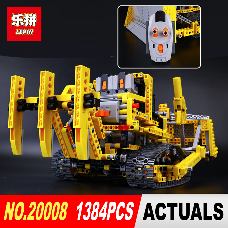 LEPIN 20008 Technic series 1384pcs the bulldozer Model Building blocks Bricks kits Compatible 8275 for boy brithday gifts free shipping lepin 21002 technic series mini cooper model building kits blocks bricks toys compatible with10242