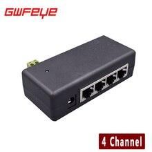 4CH Канал CCTV POE Инжектор для Ip-камер Видеонаблюдения Питания через Ethernet-Адаптер с Чехол