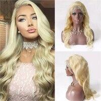 Hotlove 613 полный шнурок натуральные волосы парики для Для женщин 150% плотность Реми кружева бразильский тела парики с ребенком волос отбеленны