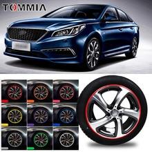 8M Car Wheel Hub Rim Edge Protector Ring Tire Strip Guard Rubber Decals For Hyundai sonata
