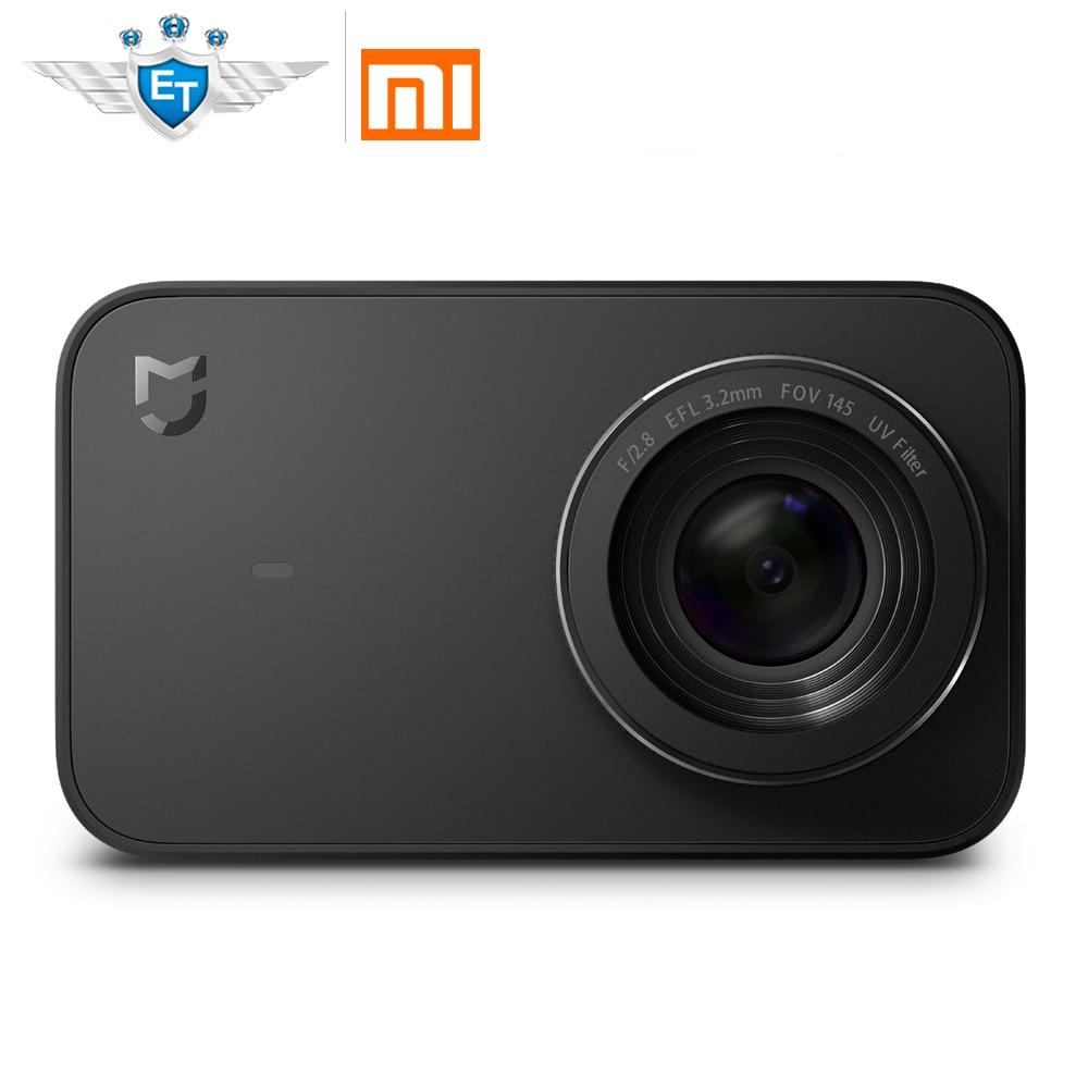 Xiaomi mijia Портативный действий мини Камера 4 К 30fps видео Запись 145 Широкий формат 2.4 дюймов Экран Спорт Камера Wi-Fi/ bluetooth
