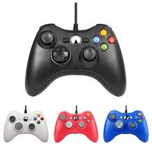 Для xbox 360 USB проводной геймпад Поддержка Win7/8/10 Системы пульта джойстик для xbox 360 Slim/жир/E консоли джойстик, геймпад