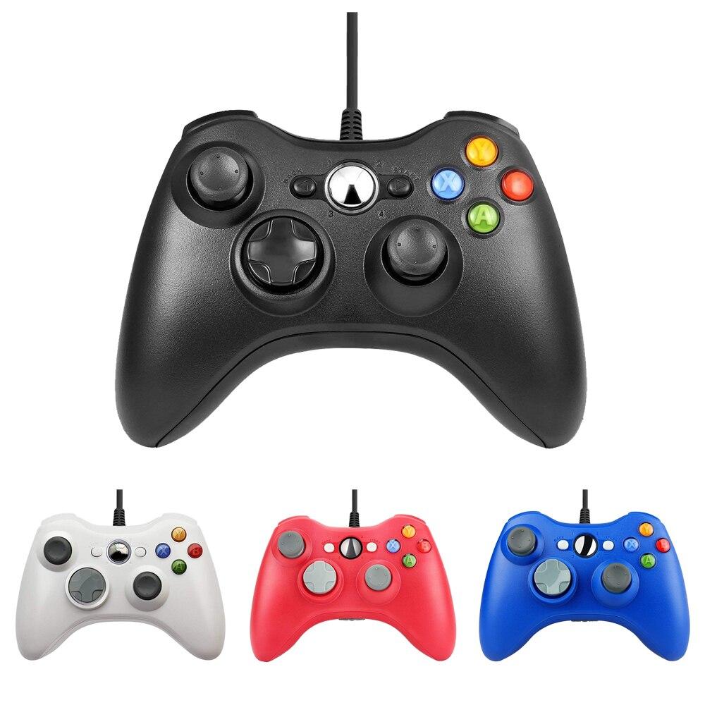 Para Xbox 360 cable USB Gamepad apoyo Win7/8/10/sistema de control Joystick para XBOX360 Slim/grasa /E juego de consola controlador Joypad
