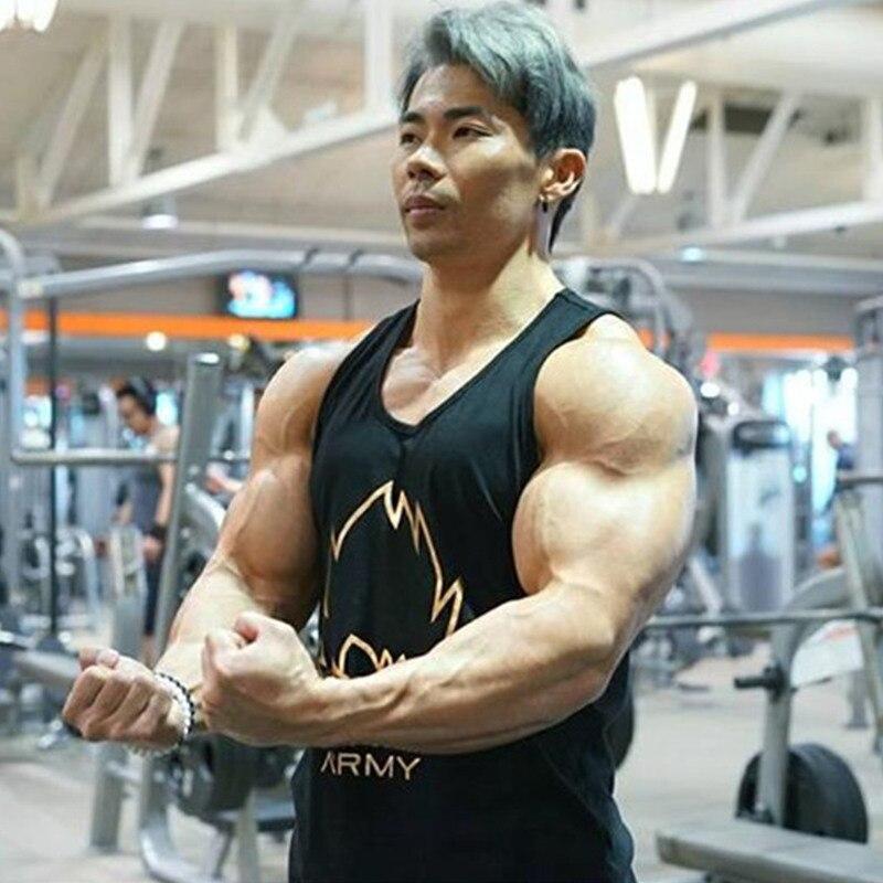 Men summer Bodybuilding   Tank     Top   gyms Fitness cotton vest male Workout Sleeveless garment Sling shirt undershirt Brand clothing