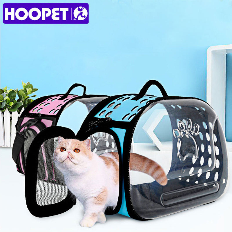 HOOPET Fashion Small Pet Transparent Outdoor Remove Portable Shoulder Bag Handbag Carrier Bag