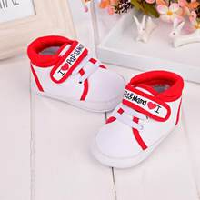 Baby Infant Kid Boy Girl Soft Sole Canvas Sneaker Toddler Shoes 100% brand new and high quality.perfect for learning walk(China)