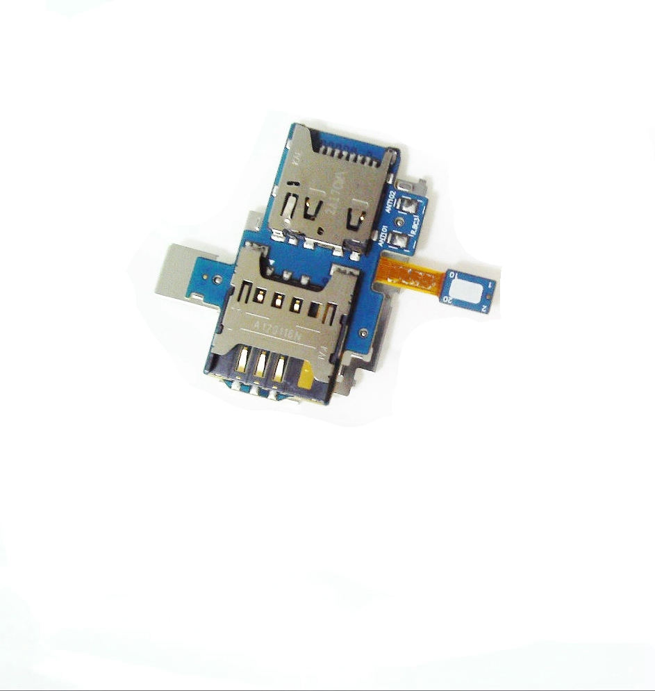 New SIM Card+Memory Card Holder Slot Flex Cable For Samsung Galaxy S Advance i9070