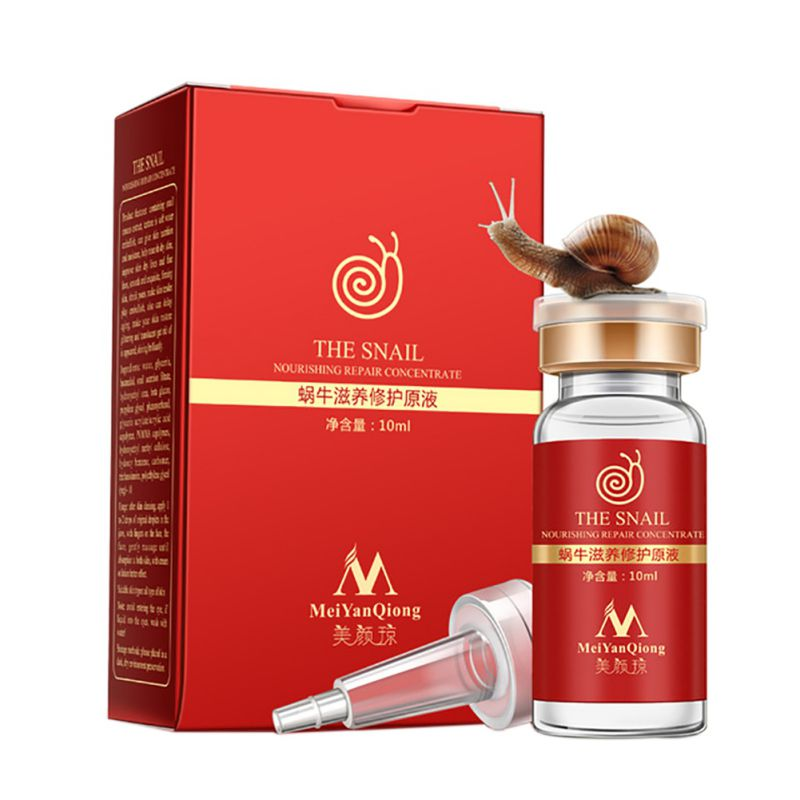 Pure Whitening Liquid High Quality Snail VegetableHyaluronic Acid Serum Vial Stain Anti-acne