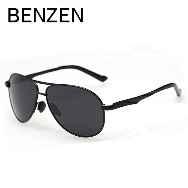BENZEN Shades UV Polarizada Óculos De Sol Dos Homens do Sexo Masculino 400 Homens de Condução Óculos de Sol Para Homens Com a Caixa 9084