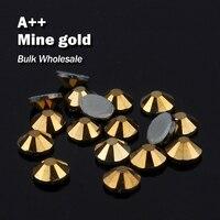 Bergwerk gold Groß Großhandel Heiße verlegenheit Rhinestones Ähnliche Swa AAA Qualität Strass Hotfix Steine und Kristalle Für Kleidung Dekoration